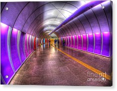 Underground Colors Acrylic Print by Will Cardoso