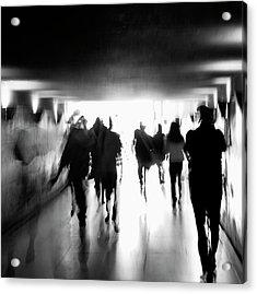 Underground Pathway Acrylic Print by Andrea Klein