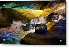 Underground Waterfall 2 Acrylic Print by Mark Papke