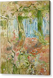 Undergrowth In Autumn Acrylic Print by Berthe Morisot