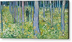 Undergrowth With Two Figures, 1890  Acrylic Print by Vincent van Gogh