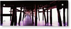 Underneath View Of San Clemente Pier Acrylic Print