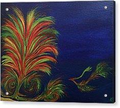 Undersea Acrylic Print by Robert Nickologianis