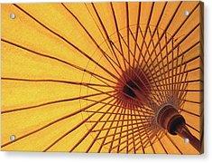 Underside Of Yellow Parasol, Symbol Of Acrylic Print by Antony Giblin