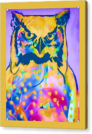 Understated Owl Acrylic Print by Carol Leigh