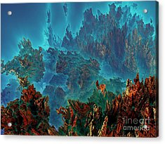 Underwater 11 Acrylic Print by Bernard MICHEL