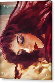 Underwater Geisha Abstract 3 Acrylic Print by Scott Campbell