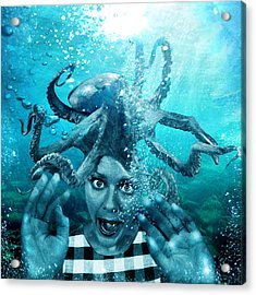 Underwater Nightmare Acrylic Print by Marian Voicu
