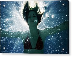 Underwater Self-portrait Acrylic Print