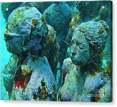Underwater Tourists Acrylic Print by John Malone