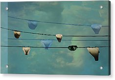 Underwear On A Washing Line  Acrylic Print