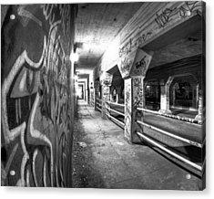 Underworld - The Krog Street Tunnel Acrylic Print by Mark E Tisdale