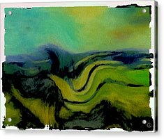 Undulating Green Acrylic Print by Gun Legler