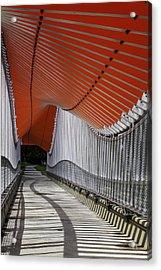 Undulating Orange Wave Acrylic Print
