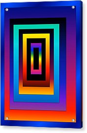 Acrylic Print featuring the digital art Uneven by Gayle Price Thomas