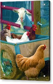 Unexpected Company Acrylic Print by Ric Darrell