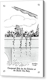 Unexpected Help For The Colonists At The Boston Acrylic Print by J.B. Handelsman