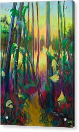 Unexpected Path - Through The Woods Acrylic Print by Talya Johnson