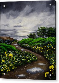 Unexpected Summer Rain Acrylic Print by Laura Iverson