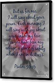 Unfailing Love Acrylic Print