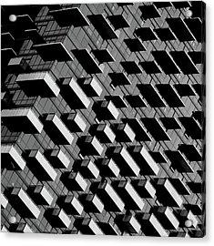 Unfinished Balcony Acrylic Print by Jonathan Lai