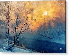 Unfrozen River Acrylic Print by Marina Likholat