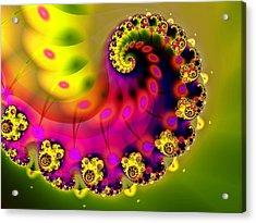 Unfurling Acrylic Print by Sharon Lisa Clarke