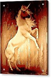 Unicorn Acrylic Print by David Alvarez