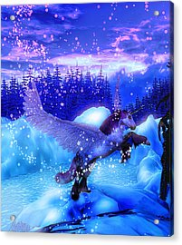 Acrylic Print featuring the painting Unicorn by David Mckinney