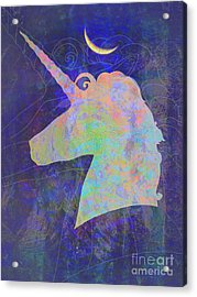 Unicorn Dreams Acrylic Print by Robert Ball