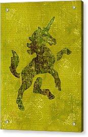 Unicorn Fresco Acrylic Print by Sarah Vernon