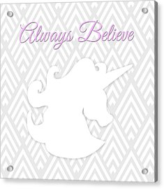 Unicorn I Acrylic Print