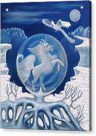 Unicorn In A Bubble Acrylic Print by Glenn Holbrook