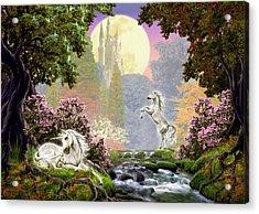 Unicorn New Born Acrylic Print by Garry Walton