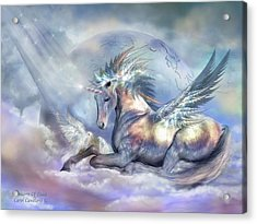 Unicorn Of Peace Acrylic Print by Carol Cavalaris