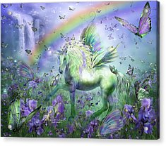 Unicorn Of The Butterflies Acrylic Print