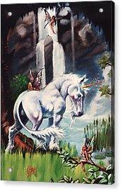 Unicorn Spring Acrylic Print by T Ezell