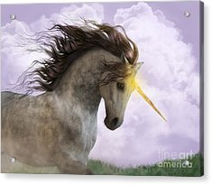 Unicorn With Magic Horn Acrylic Print