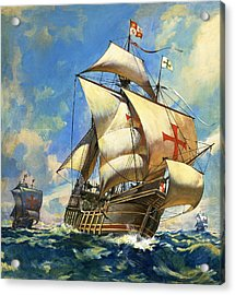 Unidentified Sailing Ships Acrylic Print