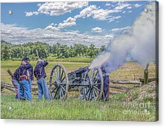 Union Artillery In Action Acrylic Print