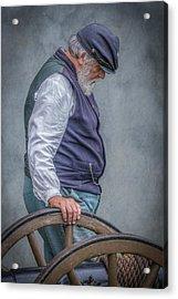 Union Civil War Soldier The Veteran  Acrylic Print by Randy Steele