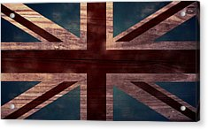 Union Jack I Acrylic Print by April Moen