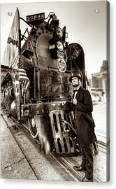 Acrylic Print featuring the photograph Union Pacific 844 by Tim Stanley