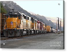 Union Pacific Locomotive Trains . 7d10563 Acrylic Print