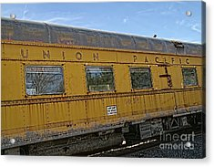 Union Pacific Acrylic Print by Peggy Hughes