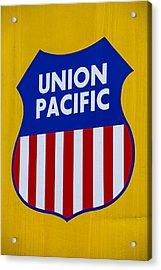 Union Pacific Raolroad Sign Acrylic Print by Garry Gay