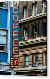 Union Square Coffee Shop Sign Acrylic Print