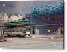 Union Station - Backside - Oil Painting Acrylic Print by Liane Wright
