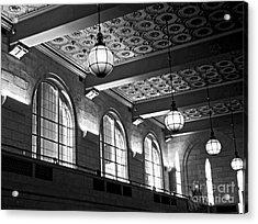 Union Station Balcony - New Haven Acrylic Print by James Aiken