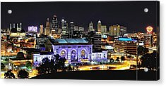 Union Station In Purple Acrylic Print